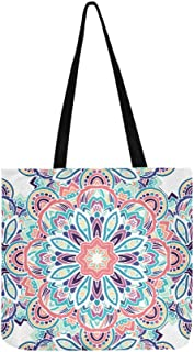Tribal Ethnic Seamless Pattern Abstract Background Canvas Tote Handbag Shoulder Bag Crossbody Bags Purses For Men And Women Shopping Tote