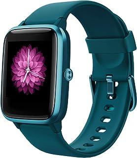 Reloj Inteligente Mujer,Smartwatch Hombre Impermeable IP68 Pulsera Actividad 1.3 Pulgada con Monitor de Ritmo cardíaco, Podómetro, Control de música, Reloj Actividad para Xiaomi Huawei iPhone