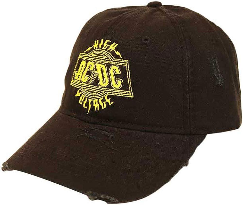 AC/DC Men's High Voltage Hat Baseball Cap Black