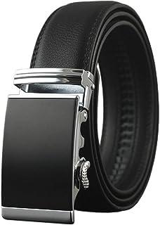 أحزمة رجالي جلدية بسقاطة - سراويل مع إبزيم منزلق قابل للإزالة - كبير وطويل الحجم