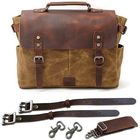 Jfzs Multifunktions Canvas Motorradtasche Seitentasche Satteltaschen Schulter Umhängetasche 1 Taschen 36 27 12 5 Cm Khaki Küche Haushalt
