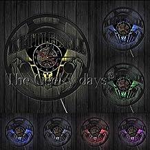 BBNNN Bodybuilding Kettle Gym Logo Reloj de Pared Ejercicio Disco de Vinilo Reloj de Pared invitación Inspirador Reloj de Pared Regalo