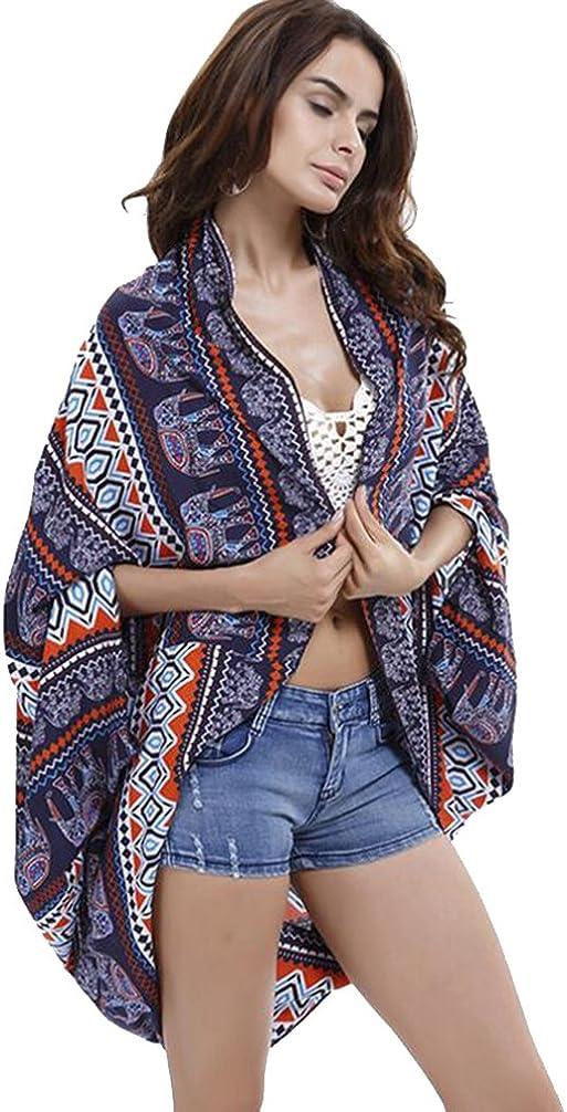 Beach Cover Ups For Swimwear Women - Chiffon Kimono Cardigan Long Person cotton beach sunscreen shawl square flower beach cover cardigan