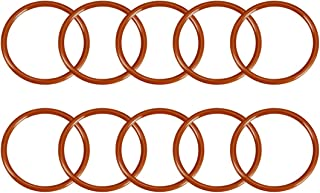 uxcell Silicone O-Ring, 52mm Outside Diameter, 45mm Inner Diameter, 3.5mm Width, VMQ Seal Rings Sealing Gasket Red, 10PCS