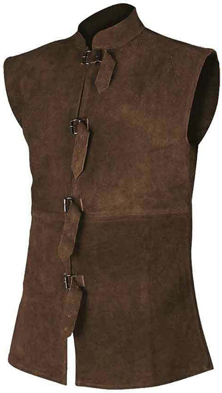 Burband Mens Many popular brands Leather Max 54% OFF Motorcycle Cafe Classic Vintage Vests