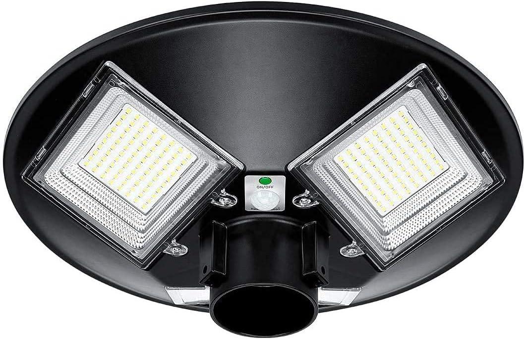 LEDMO 120W Solar Light Outdoor 35% OFF lamp Yar Chicago Mall Post 12800LM