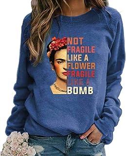 kewing T-Shirt da Donna con Stampa Avatar Pittore Non Fragile Come Un Fiore Fragile Come Una Bomba T-Shirt Vintage a Manic...
