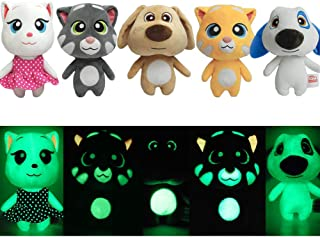 Stuffed Animal Night Light Seal Glow Pets Plush Toys Cat Creative Night Light Lovely Glow Soft Plush Toy Luminous Toy Gifts for Kids Puppet(Tom and Friends, 5.9inches)