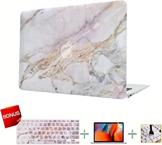 Laptop Case MacBook Case Marble Hard Shell Case for MacBook Air 13-inch Model A1932 (2019 2018 Release) with Keyboard Skin Cover and Screen Protector
