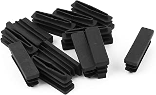 DealMux Plastic Rectangle Tube Inserts End Blanking Cap 15mm x 40mm 20 Pcs Black