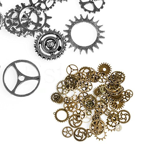 Miner 1 pak 100g mix legering mechanische steampunk tandwielen & versnellingen diy accessoires nieuw, zilver