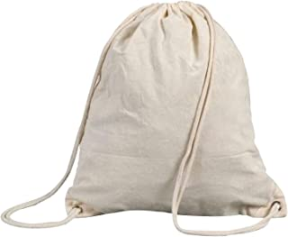 Shugon Stafford Cotton Drawstring Tote Backpack Bag - 13 Litres (UK Size: One Size) (Natural)