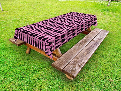 ABAKUHAUS Mode Tafelkleed voor Buitengebruik, Cocktail Jurken baljurken, Decoratief Wasbaar Tafelkleed voor Picknicktafel, 58 x 84 cm, Roze Dark Chestnut Brown