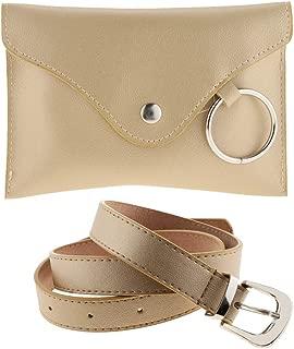 Baoblaze Women's Stylish Leather Belt Fanny Pack with Removable Belt Waist Pouch Belt Bags