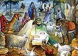 Neugeborene Kind religiöse Weihnachtskarten, Box von 15