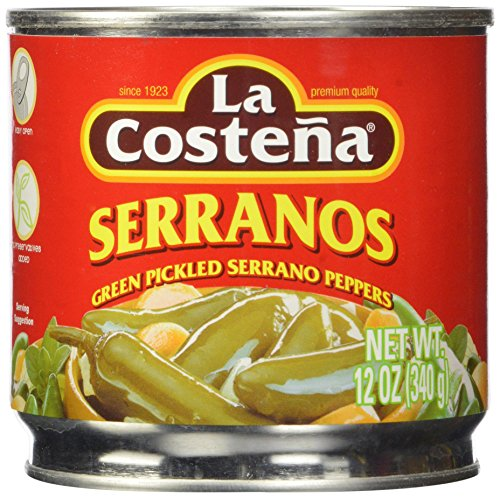 La Costena Serrano Pepper, 12 Ounce (Pack of 12)