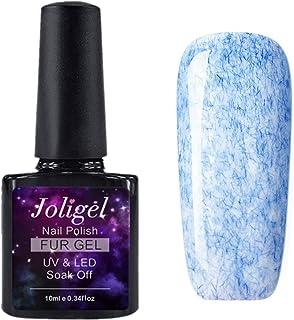 JOLIGEL 10ml Esmalte en Gel para Uñas Manicura Semipermanente Soak-Off UV LED Efecto Saburra Romántico Elegante Resina Na...