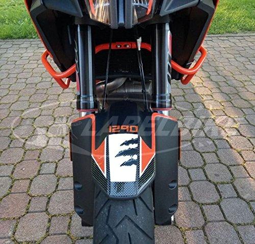 Autocollant 3D de protection d'aile avant de moto compatible avec KTM 1290 ADVENTURE S-T (modèles S et T)