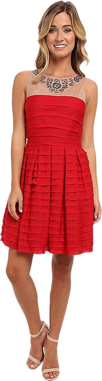 BCBGMAXAZRIA Women's Marina Tiered A-Line Skirt Dress