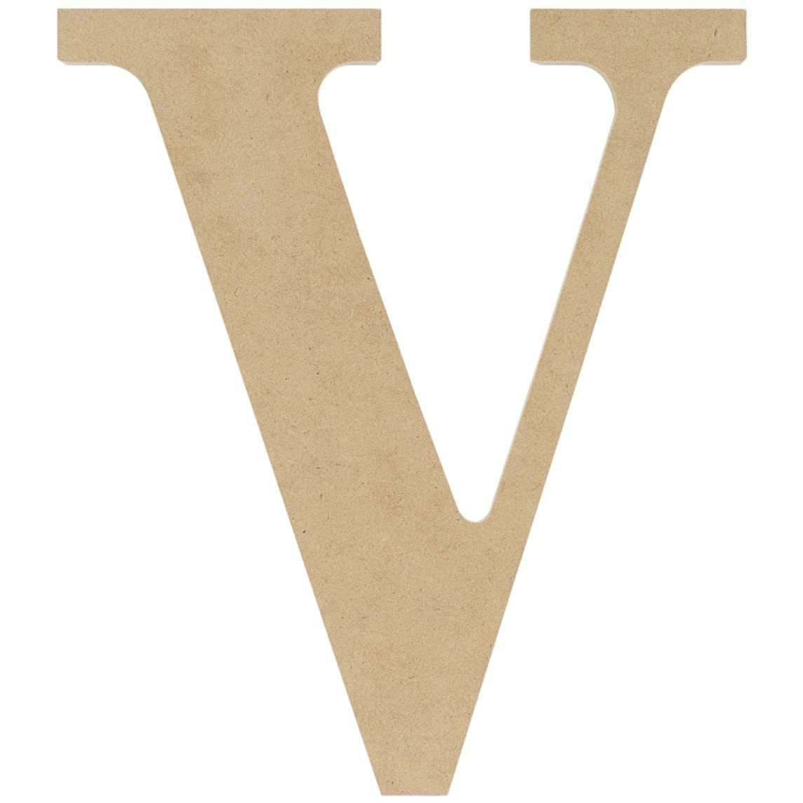 MPI MDF Classic Font Wood Letters and Numbers, 9.5-Inch, Letter V