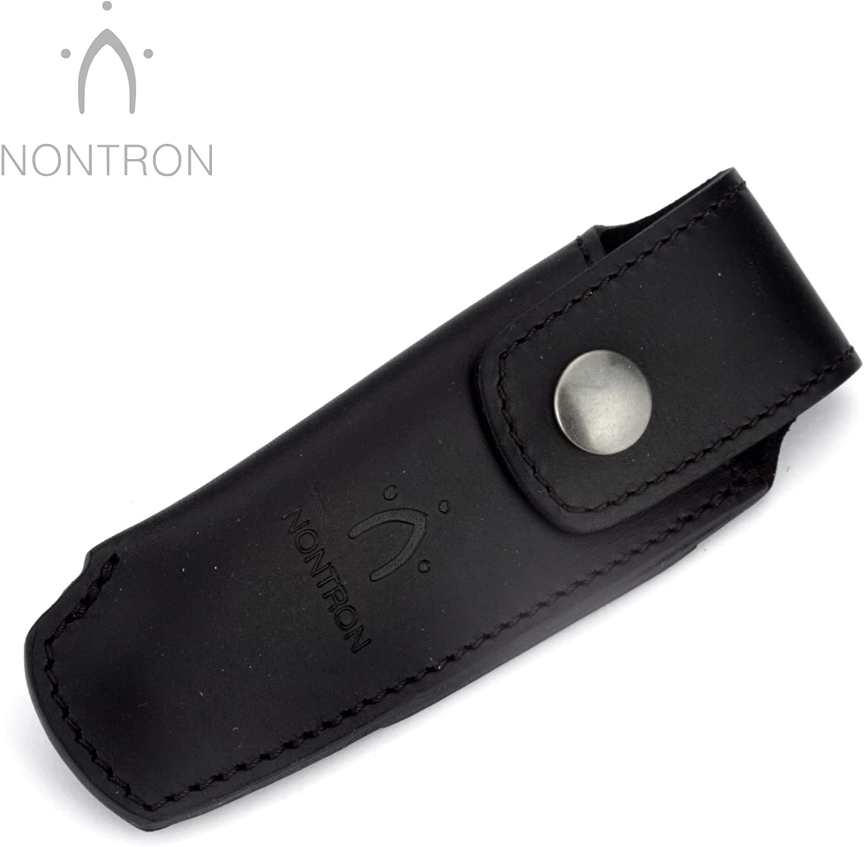 Nontron Taschenmesser Gürteltasche - N 25 - Leder schwarz - Lederetui für 12 cm Messer Griff Keine Kugel B00U7MK18C  Ausgezeichnete Leistung