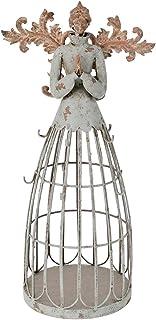 Attraction Design Antiqued Praying Metal Garden Angel Statue with Hooks, Indoor Outdoor Angel Yard Art Decor Lawn Patio De...
