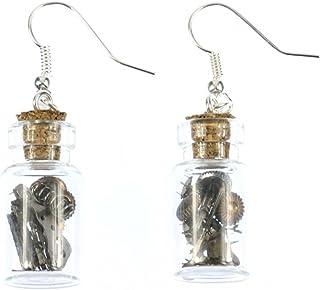 Miniblings Uhrenteile im Glas Ohrringe Steampunk Uhr Technik Upcycling Vorratsglas - Handmade Modeschmuck I Ohrhänger Ohrschmuck versilbert