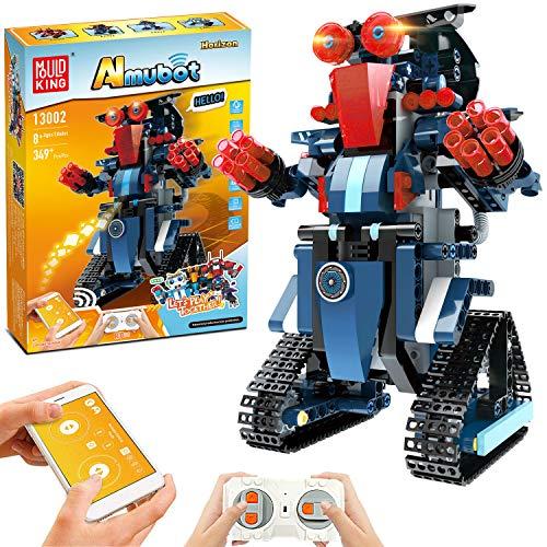 STEM Roboter Spielzeug Bausatz, 349-tlg Bausatz für Ferngesteuerte Bildungsroboter für Kinder ab 8 Jahren, Wiederaufladbare Heimwerker Roboterbausätze, Großartiges Kreatives Geburtstagsgeschenk