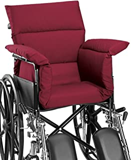 AmeriMark Chair Cushion Pad Seat Cover for Wheelchair, Transport Chair or Electric Scooter Burgundy One Size