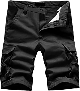 Muranba Clearance Pants Men's Casual Solid Pocket Outdoors Work Shorts(Does't include a belt)