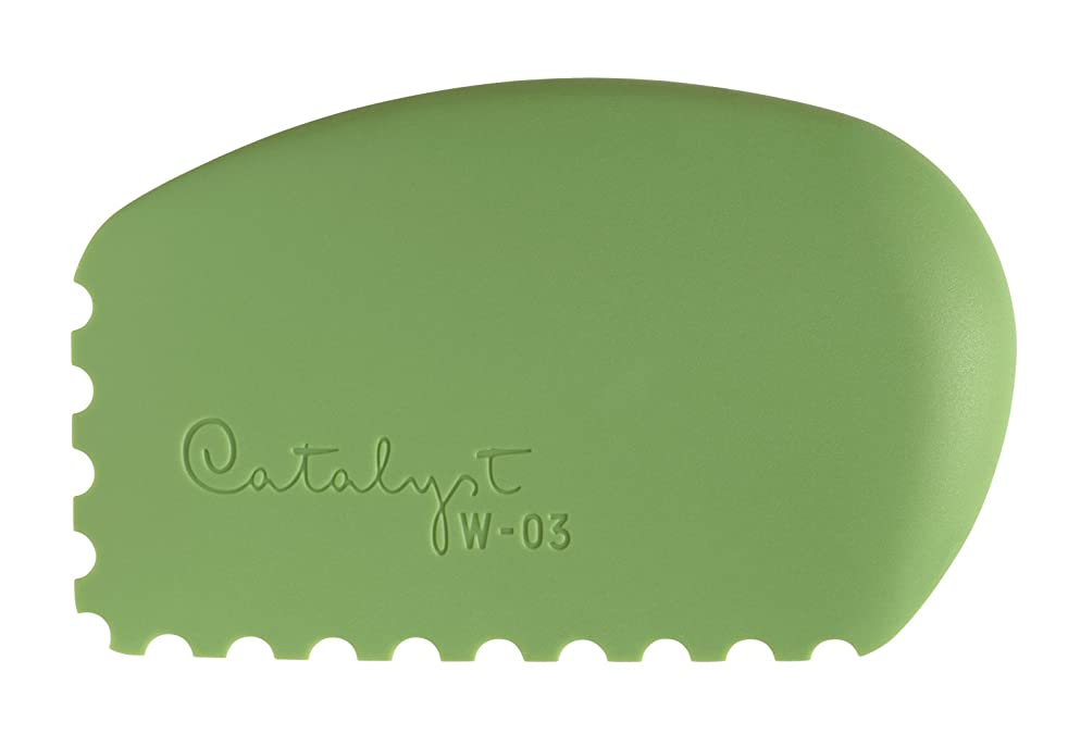 Princeton Artist Brush Catalyst Silicone Wedge Tool, Green W-03