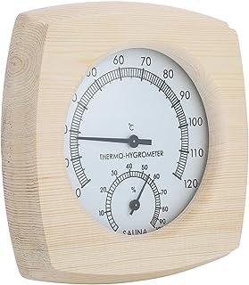 Thermo-hygromètre en bois Thermomètre hygromètre pour salle de bain Sauna Accessoire Thermomètres d'intérieur