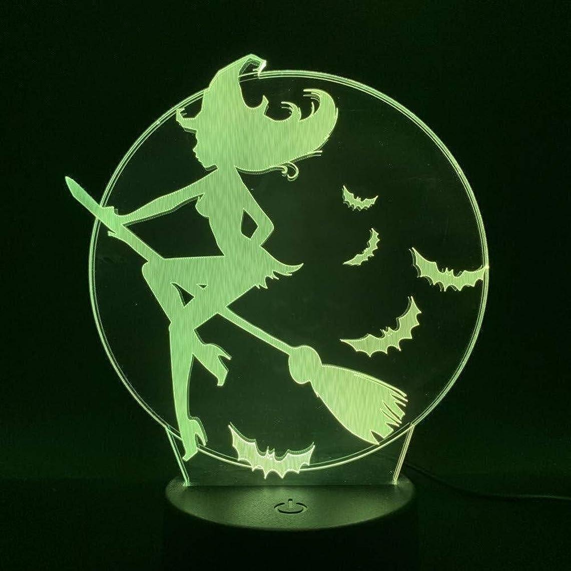 対象業界天才3DイリュージョンクリエイティブLEDランプタッチセンサー7色のランプベッドルームベッドサイドアクリル装飾的なデスクランプキッズフェスティバル誕生日プレゼントのUSB充電