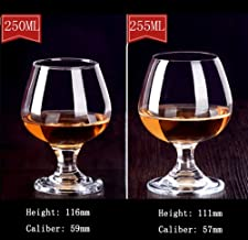 FZBK Ovid Weißweingläser , Kristall 4-teiliges sessile Gin Copa Partyglas, Kristallweinglas, Kristallglas, Klarglas, 255ml   4St