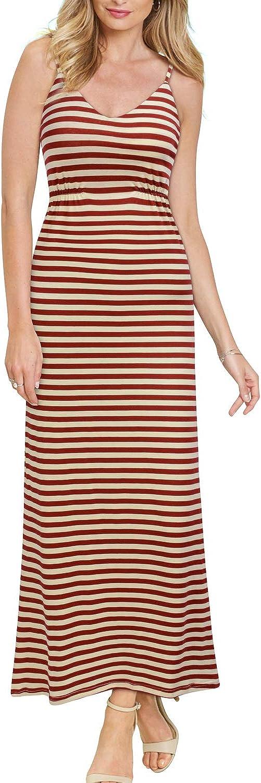 REPHYLLIS Women's Short Sleeve Loose Plain Pockets Maxi Casual Long Dresses