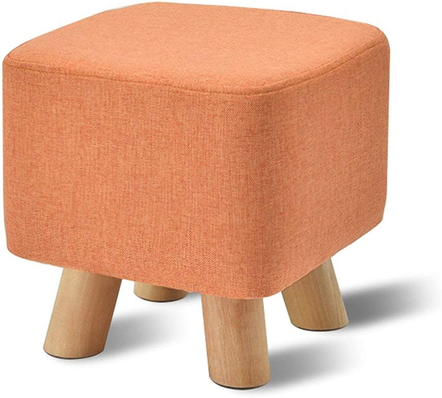 JZX Chair, Footstool, Solid Wood Home Stool, Fashion shoes Bench, Creative Sofa Stool