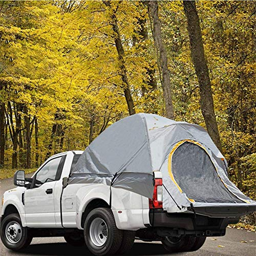 JDK Pickup Truck Tent, Double Layer Camping Tent with Side Observing Windows and Sunroof, 2 Person Waterproof Dome Tent for Fishing Road Hiking Picnic Traveling