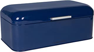 Large Blue Bread Box - Powder Coated Stainless Steel - Extra Large Bin for Loaves, Bagels & More: 16.5