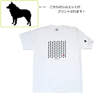 ザ?ブラックラブカンパニー BLC 100Dogs Tシャツ / シッパーキー / Mサイズ / 白 / 犬グッズ専門店 オリジナル