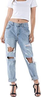 Pantaloni in denim a vita alta con jeans da donna