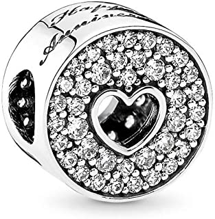 614967e79 PANDORA Anniversary Celebration Charm, Sterling Silver, Clear Cubic  Zirconia, One Size