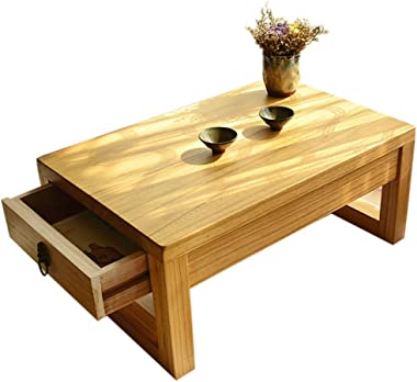 Coffee Table Japanese Drawer Table Solid Wood Tatami Tea Table Balcony Bay Window Table Chinese Storage Small Table Zen Small