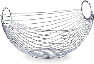 Zeller 24895 Frutero Ovalado Metal Plateado 27.5x26x15 cm