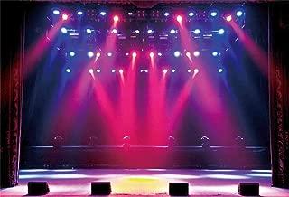 Leyiyi 9x6ft Stage Spotlight Backdrop Concert Live Plateform Banner Gloomy Night Scenic Background Superstar Drama Play Music Show Kids Birthday Adults Vlogger Portrait Studio Prop Vinyl Wallpaper