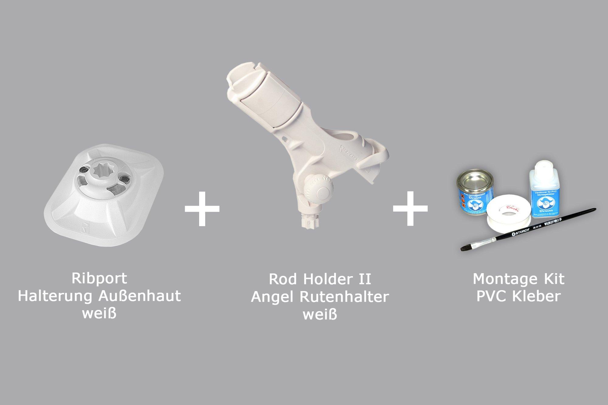 Railblaza Rutenh 03-0008-11 Set: Rod Holder II Kleber Kit, wei/ß Ribport