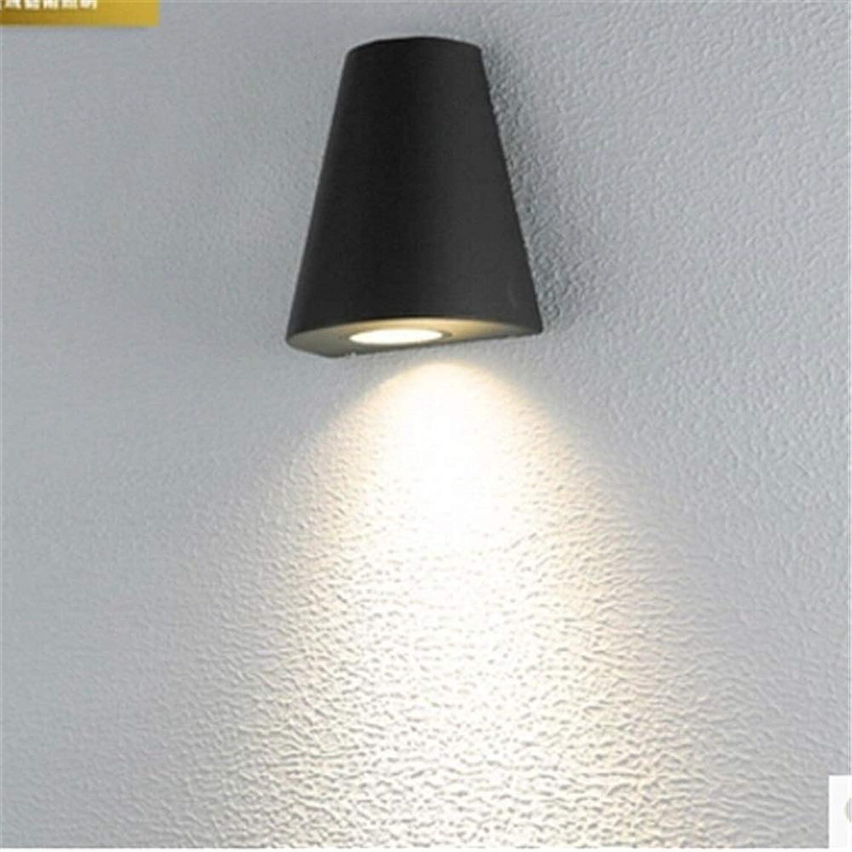 3W LED wasserdichte Auenwandleuchte Schwarz Grau Aluminium Leuchte Down Lighting 110V220V240V Outdoor Garden Porch Lighting (Farbe   schwarz-Cold Weiß)
