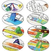 30 Pezzi Pennelli Spugna per Pittura Set per Bambini Strumenti per L'apprendimento Precoce 29 Pennelli per Pennelli PCS + 1 Borsa, Colori Assortiti e Forme (30 Pezzi) #5