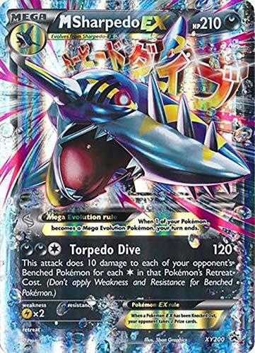 M Sharpedo EX XY200 Promo - Mega Pokemon Card - Holo Rare