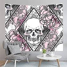 75CMX85CM 3D digitaal geprint Skull Skull Tapestry Wall Mounted Tapestry strandlaken Yoga Mat