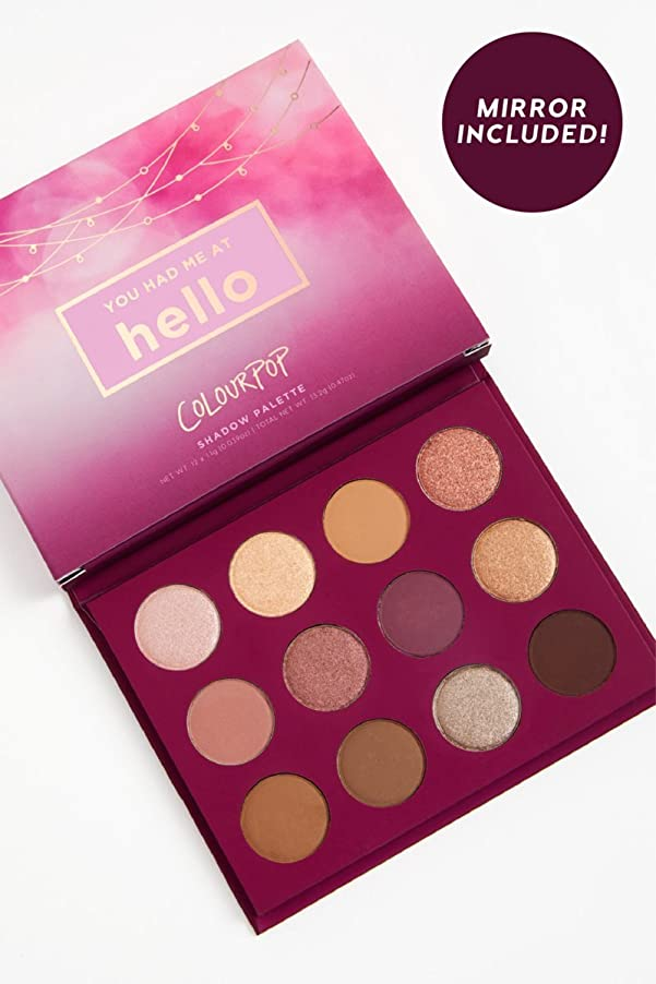多用途朝ごはんしなければならないColourpop YOU HAD ME AT HELLO - Pressed Powder Shadow Palette